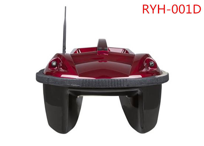 Double Bait Hoppers Red Remote Control Fishing Boat, Anti-wind RC Bait Boats RYH-001D